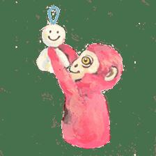 pink monkeys sticker #349153