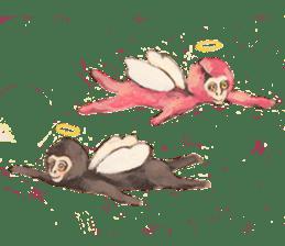 pink monkeys sticker #349154