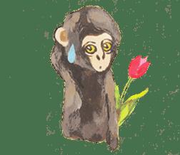 pink monkeys sticker #349157