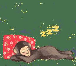 pink monkeys sticker #349159
