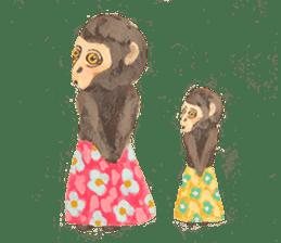 pink monkeys sticker #349160