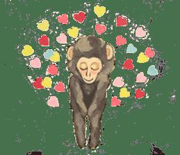 pink monkeys sticker #349161