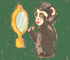 pink monkeys sticker #349162