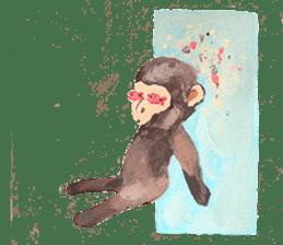 pink monkeys sticker #349164