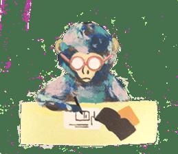 pink monkeys sticker #349169
