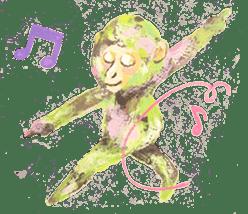 pink monkeys sticker #349173