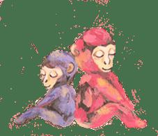 pink monkeys sticker #349175