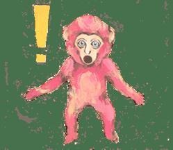 pink monkeys sticker #349176