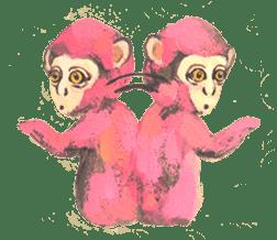 pink monkeys sticker #349177