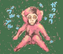 pink monkeys sticker #349179
