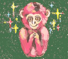 pink monkeys sticker #349180