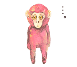 pink monkeys sticker #349181