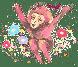 pink monkeys sticker #349182