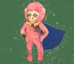 pink monkeys sticker #349184
