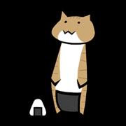 สติ๊กเกอร์ไลน์ Riceball Cat