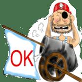 Pirate - A-Fu sticker #350630