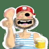 Pirate - A-Fu sticker #350637