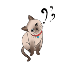 Happy Por-Poh Cat sticker #350828