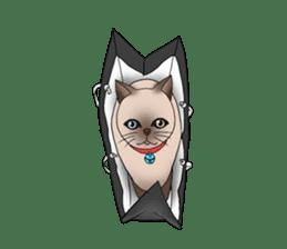 Happy Por-Poh Cat sticker #350831