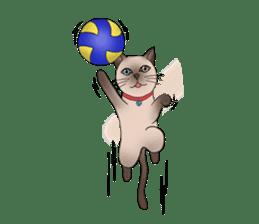 Happy Por-Poh Cat sticker #350832