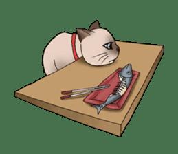 Happy Por-Poh Cat sticker #350833