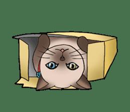 Happy Por-Poh Cat sticker #350834