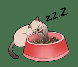 Happy Por-Poh Cat sticker #350851