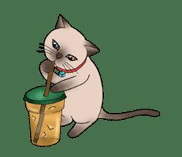 Happy Por-Poh Cat sticker #350852