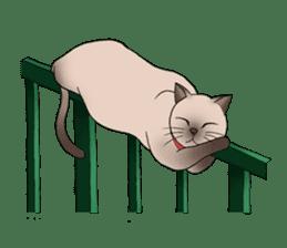 Happy Por-Poh Cat sticker #350854