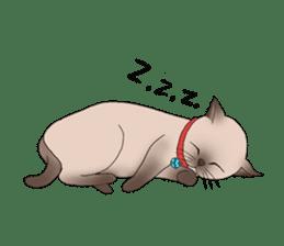 Happy Por-Poh Cat sticker #350858