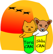 Shiba CAN and Tora CAN 4th (Eng) sticker #351175