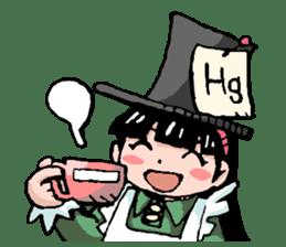 Alice in science sticker #351505