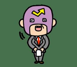 Masked businessman Sticker sticker #352027
