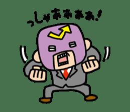 Masked businessman Sticker sticker #352029