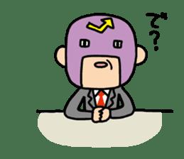 Masked businessman Sticker sticker #352041