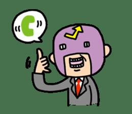 Masked businessman Sticker sticker #352050
