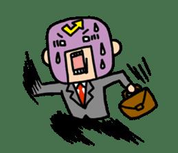 Masked businessman Sticker sticker #352062
