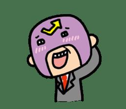 Masked businessman Sticker sticker #352063