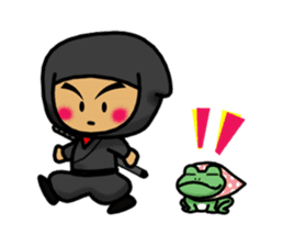 NINJA NEGOROH and NIOHMARU a frog sticker #354437