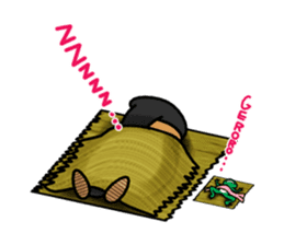 NINJA NEGOROH and NIOHMARU a frog sticker #354443