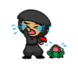 NINJA NEGOROH and NIOHMARU a frog sticker #354445