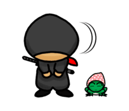 NINJA NEGOROH and NIOHMARU a frog sticker #354446