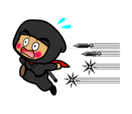 NINJA NEGOROH and NIOHMARU a frog sticker #354447