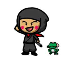 NINJA NEGOROH and NIOHMARU a frog sticker #354451