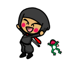 NINJA NEGOROH and NIOHMARU a frog sticker #354452