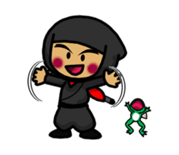 NINJA NEGOROH and NIOHMARU a frog sticker #354454