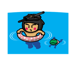 NINJA NEGOROH and NIOHMARU a frog sticker #354455