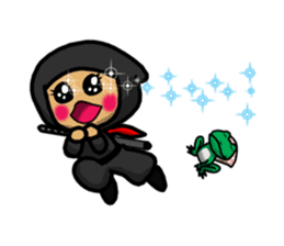 NINJA NEGOROH and NIOHMARU a frog sticker #354459