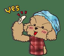 Waffle of poodle sticker #355629