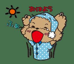 Waffle of poodle sticker #355634
